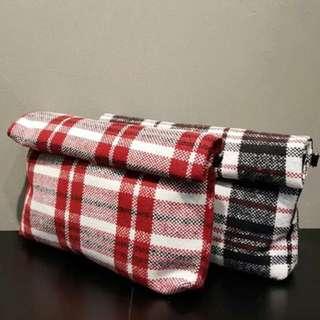 韓國代購格仔單肩斜揹手挽袋