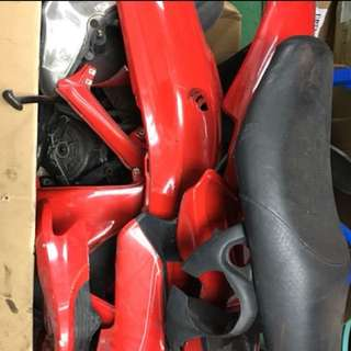 Gilera vxr200 red fairing set with seat