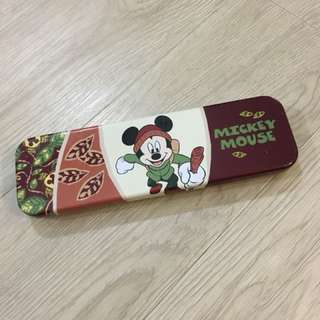 Vintage Disney Mickey Tin Pencil Case
