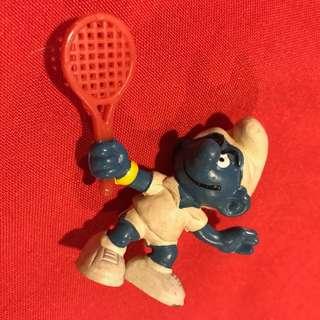 Smurfs Tennis Player Vintage 1978 Schleich Figure PVC Lot Figurine 20049