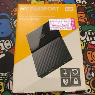 全新 WD My passport 1TB Hard disk