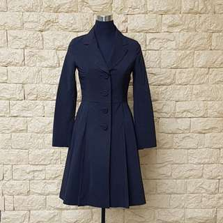 PRE-LOVED BLACK LIGHTWEIGHT PRINCESS TRENCH COAT
