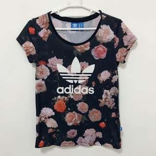 愛迪達 Adidas. 玫瑰花 短T