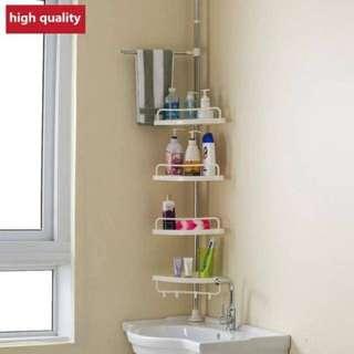 Adjustable Bathroom Corner Pole Caddy Shower Organizer