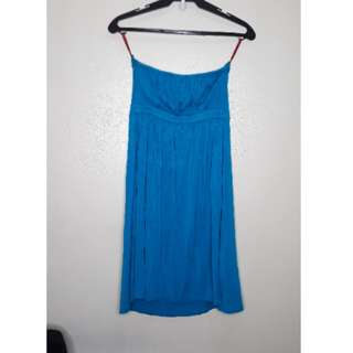 Tube dress in teal/cyan