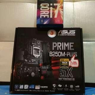 Core i7 7700 and Asus Prime B250M Plus