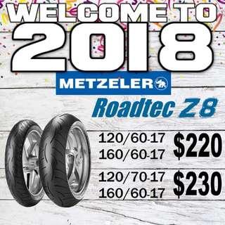 Metzeler z8 tyres for sale