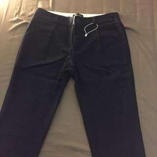 Long dark blue pants men man size 40
