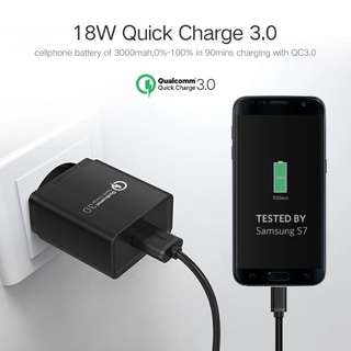 Ugreen 18W Phone USB Quick Charge 3.0 Fast USB Adapter