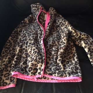 Leopard sweater 5/6 year old