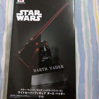 Star Wars Darth Vader lightsaber figure.