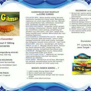 Herbal ekstrak gamat tenlung gamas