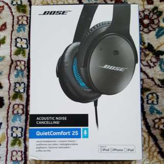 BOSE Acoustic Noise Cancelling QuietComfort 25 Wired Headphones