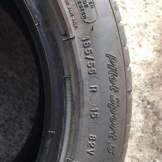 michelin ps3  4pcs     95% tyres  car scrap