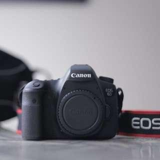 Canon 6D full frame DSLR + bag