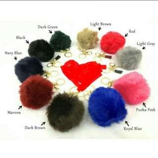 Fur ball bag keychain