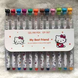 Hello Kitty colored gel pen set