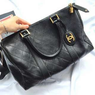 Chanel Vintage Lambskin Boston Bag