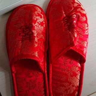紅色雙喜拖鞋