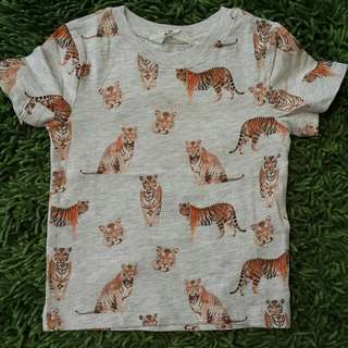 Hnm tee tiger new size 2-4y