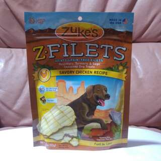 Zuke's Z.Filets Chicken Recipe Dog Treats (3.25oz)