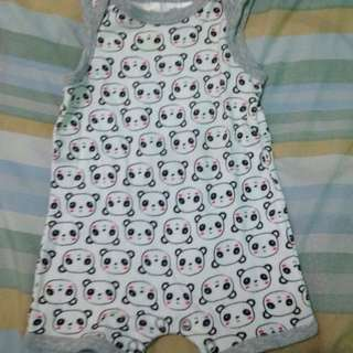 Panda Romper (Preloved)
