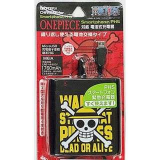 1760 mah micro usb 2A 電芯 充電器 外置充電器 出售紅色圈 ONE PIECE 海賊王 日本進口日本直送