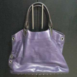 Kenzo leather handbag (plain purple color)