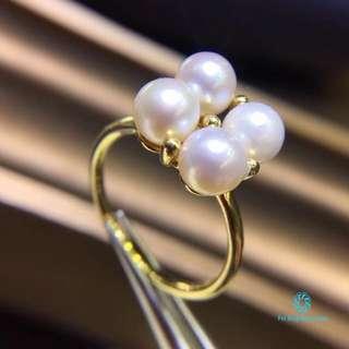 18K 黃金 Akoya(日本進口)珍珠戒指