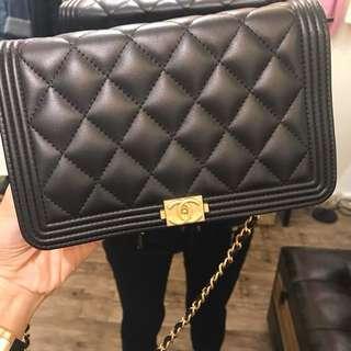 全新黑金Chanel WOC