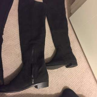 Aldo real suede knee high
