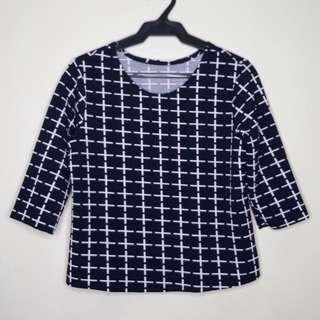 Printed 3/4 blouse