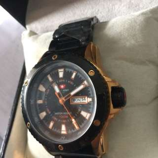 Jam  Tangan Pria Original  SWISS ARMY AS 0125 ME  CaL JS15 diameter 4,5