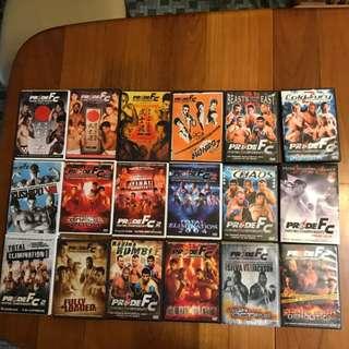 18 DVDs Pride FC Mixed Martial Arts MMA