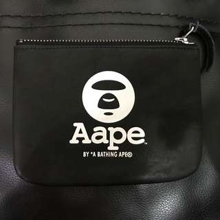 Aape Coins Leather Wallet 猿人真皮散紙銀包