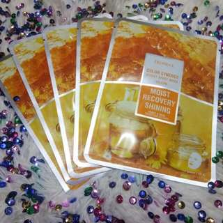 Deoproce Facial Mask Honey and Snail For Moist, Recovery, Shining