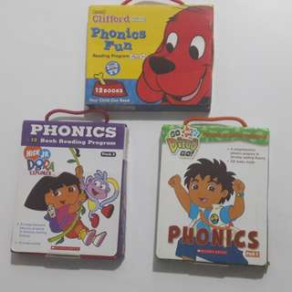 Dora, Diego & Clifford Books (12 books x 3 sets)