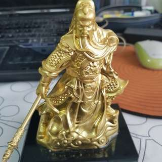 Feng Shui Gold Guan Gong. Justice, Wealth, Security, and leadership.