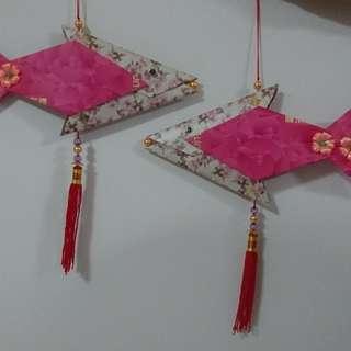 CNY decorations - Fish (pink lady)