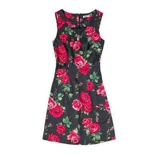 Cath Kidston Bow Rose Dress Original (Ada Size Besar juga)