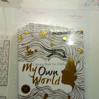 Adult coloring book - My Own World (travel size)