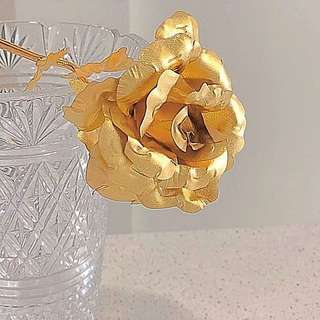 Valentine's Day Gold/ Colorful foil rose