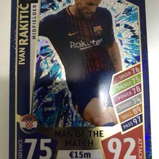 Match Attax 2017/2018 MotM Card - Ivan Rakitic