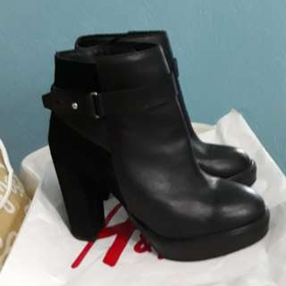 H&m genuine leather boots with suede details # FREE SHIPPING