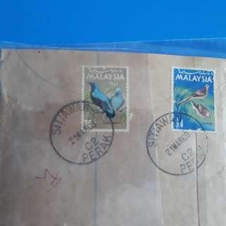 MALAYA - 1969 -  SITIAWAN , PERAK TO india vintage Postal History Cover - im64