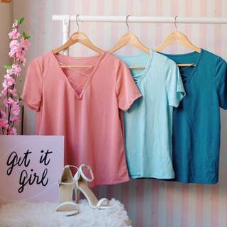 Short sleeve fashionable tops