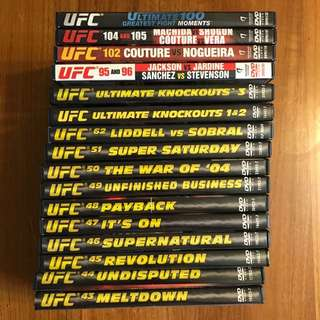 16 UFC DVDs Ultimate Fighting Championships MMA
