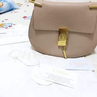 Chloe drew bag small size pink 小豬包