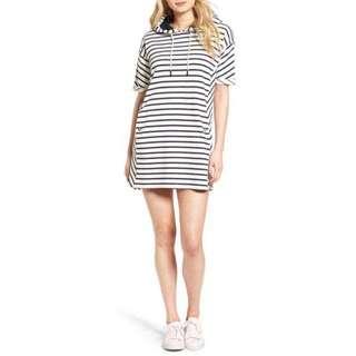 Stripe Dress with Hood