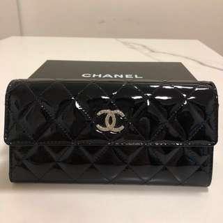 Chanel CC Logo 漆皮長銀包